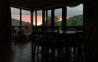 Západ slnka oščadnica